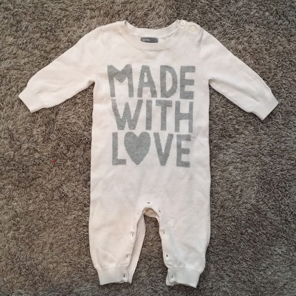 9a6462f42ef GAP Other - Baby gap unisex Made With Love onesie